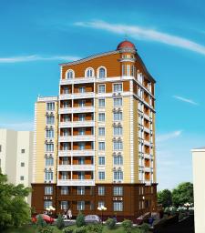 Визуализация многоэтажного жилого дома