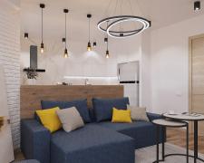 Визуализация интерьера кухни-гостиной по ТЗ