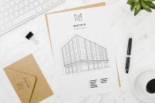 Проект здания - логотип Арт студия MATRIX