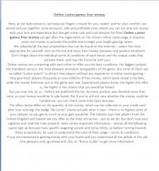 Рерайт текстов для онлайн-казино