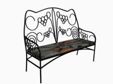 кованный диван