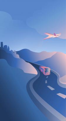 Иллюстрация для сайта по планированию путешествий.