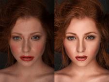 Обработка портретных фотографий.