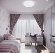 Дизайн интерьера детской комнаты для девочки.