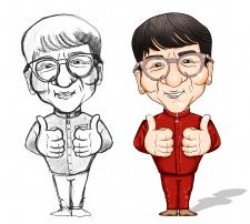 Jackie Chan (Caricature), Digital