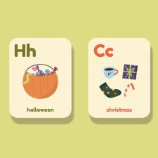 Дизайн обучающих карточек