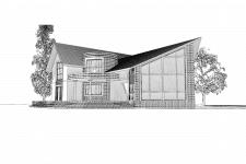 Однородинний житловий будинок (ескіз)
