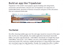 Building an app like Tripadviser