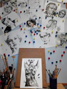 Графика, портреты