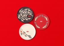"""Дизайн тарелок для ресторана """"KOI """""""