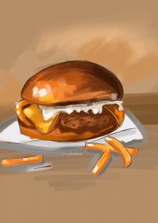 Food illustration burger