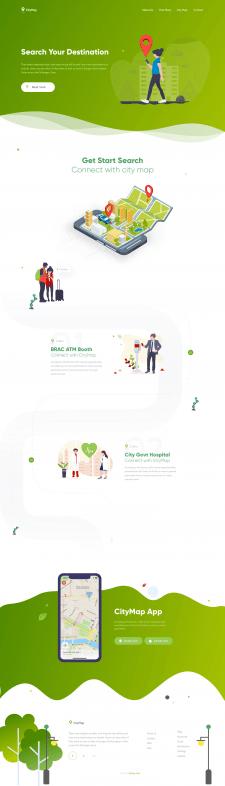 Дизайн сайта для мобильного приложения