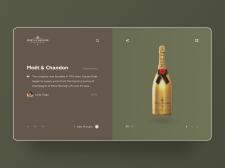 Сайт для премиум шампанского Моёт | Концепт сайта