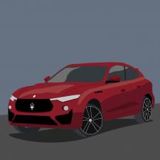 Иллюстрация Maserati Levante