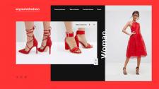 Концепция дизайн для сайта одежды