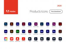 Adobe Products Icons 2020 (скачать бесплатно)