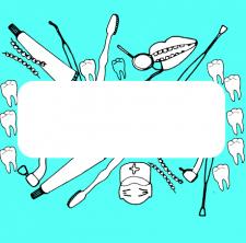 стоматология с местом для надписи