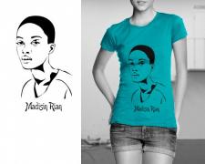 принт на футболку, портрет на заказ, подарок