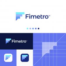 Metrics F Letter Logo