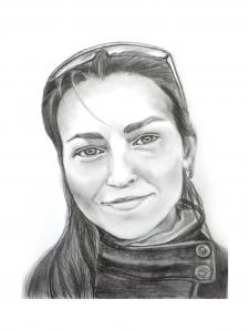 Портрет карандашом и углём