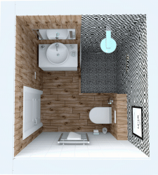 Візуалізація плану вбиральні