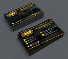 Дизайн визиток для грузового автосервиса