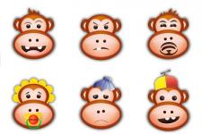 Набор обезьяно смайлов