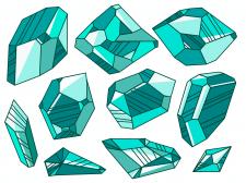 Кристали смарагди