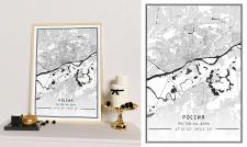 Карта плакат - Ростов-на-Дону (50х70)