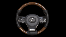 LOW POLY  steering wheel from a car Lexus LX 570