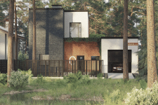 Project of a cottage of 200 square meters in Kiev