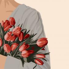 Иллюстрация Тюльпаны