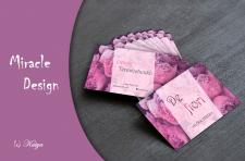 Визитная карточка для flower designer