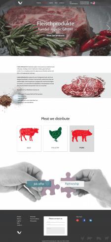 Дизайн сайта мясного дистрибьютора