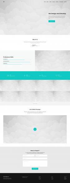 Piroll - адаптивная верстка сайта из PSD