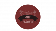 Логотип для цветочных магазинов. Пример 3