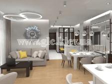 Квартира в Будапеште. Гостиная-студия