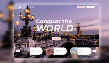 Web design | Landing [Conquer the World]