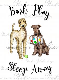 Логотип-иллюстрация для гостиницы для животных