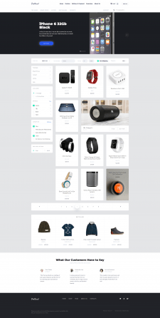 Адаптивная верстка онлайн магазина