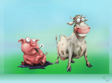 cartoon-cow-and-pig