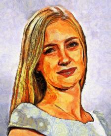 Портрет в стилі Вінсент ван Гога з фотографії