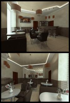 Дизайн интерьера кофейни в г. Макеевка