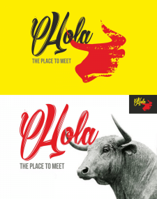 """Логотип для Испанского ресторана """"Hola"""""""