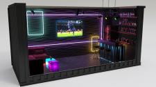 Дизайн интерьера мини ночного клуба