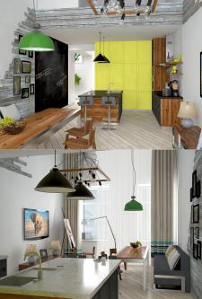 Частная квартира (кухня-студия)
