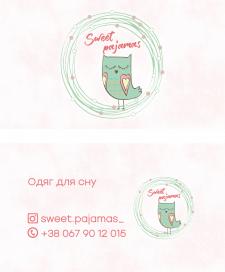 Виготовлення візитки для бренду піжамок