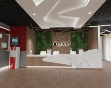 """Дизайн холла фитнес-центра """"OLIMP"""""""