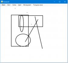 Простая рисовалка фигурами