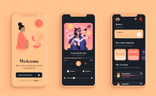 Design mobail app meditacion
